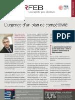 L'urgence d'un plan de compétitivité, Infor FEB 17, 24 mai 2012