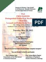 Conferenza Professor Fred Naider
