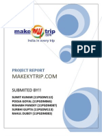 Project Report on Make My Trip