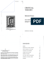 Horkheimer Traditional and Critical Theory Compressed
