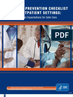 Centers for Disease Control and Prevention Infection Prevention Checklist Minimum Expectations for Safe Care for Outpatient Settings