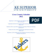 2012 XC Schedule