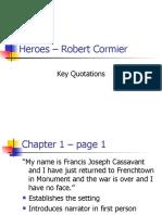 Heroes Robert Cormier Key Quotations
