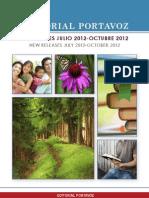 Editorial Portavoz Novedades Julio a Octubre 2012