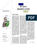 Busines Letter April 2012