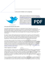 Uso Twitter Empresa