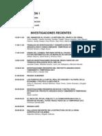 Simposio XXVI, Programa Preliminar