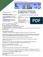 Presentation on Reinforcing Detailing of R.C
