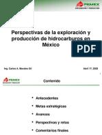 Perspectivas de La Exploracion y Explotacion de Hidrocarburos en Mexico
