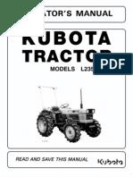 Kubota L235-L275 Operator's Manual