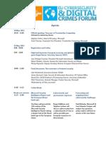 Microsoft EU Cybersecurity and Digital Crimes Forum Agenda