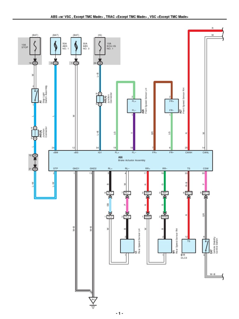 2009 2010 toyota corolla electrical wiring diagrams rh es scribd com Toyota Corolla E110 2005 Toyota Camry