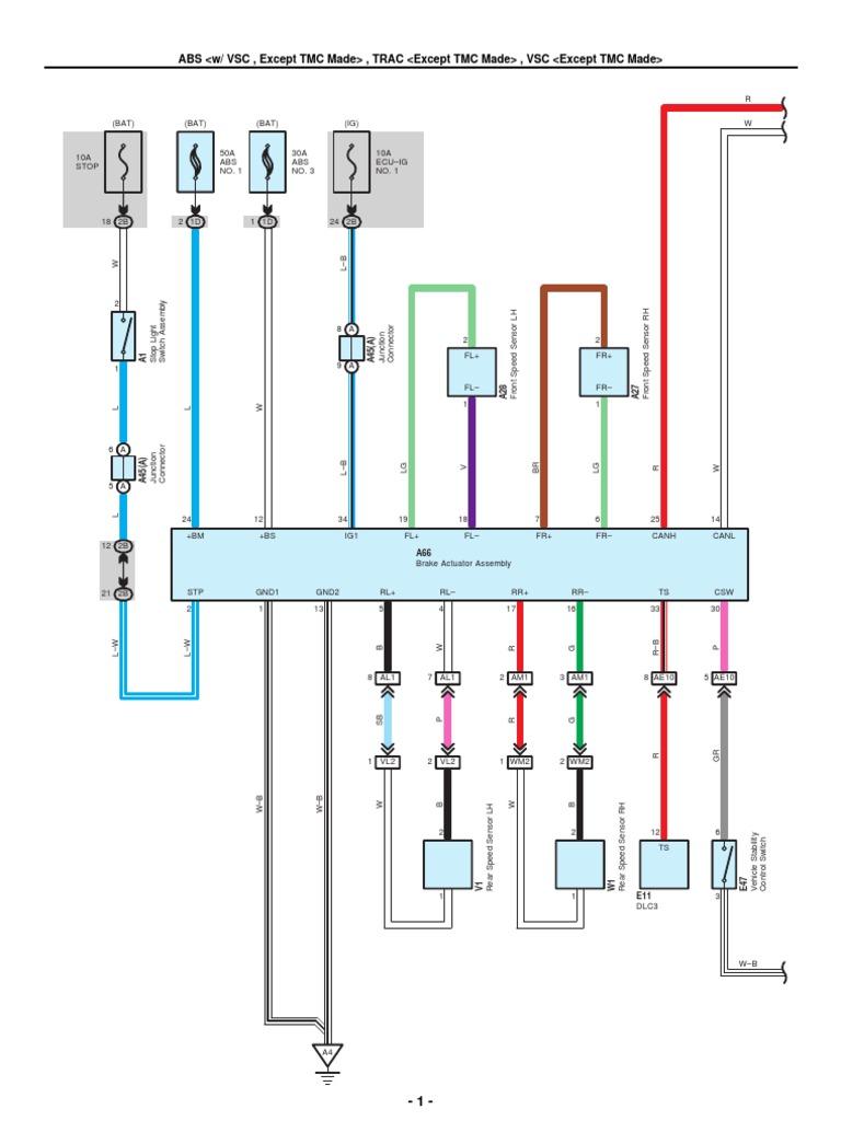 2009-2010 toyota corolla electrical wiring diagrams   anti lock braking  system   mechanical engineering  scribd