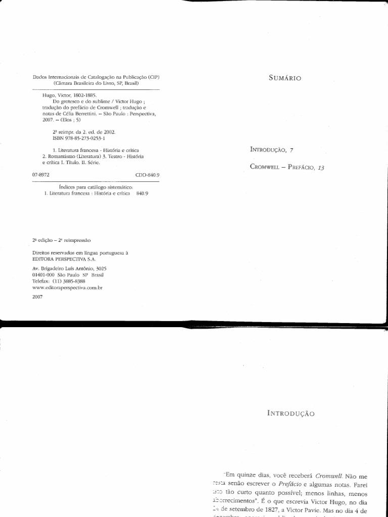 HUGO, Victor - Do Grotesco e do sublime.pdf