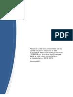 CREPUQ - Recommandations présentées par la CREPUQ au ministre des Finances dans le cadre des consultations prébudgétaires 2012-2013 - Décembre 2011