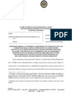 Doc 244-Order Confirming Expenses - Church Street Health Management