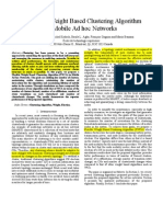 A Flexible Weight Based Clustering Algorithm in Mobile Ad Hoc Networks