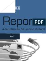Situación del Voto Electronico en Perú realizado por ONPE