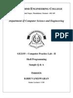 93205249 GE2155 Computer Practice Lab II Shell Programming