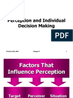 OB Ch-5 (Perception & Individual Decision Making)