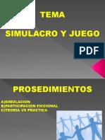 SIMULACRO Y JUEGO