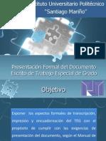 Taller Presentacion de Documento TEG