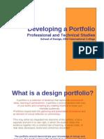 Developing a Portfolio Lecture1