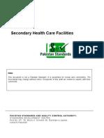 Draft Pakistan Standard on Secondary Healthcare Facilities