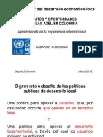 Foro Nacional - Desafíos y Oportunidades para las ADEL en Colombia - Aprendiendo de la experiencia internacional