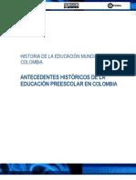 AntecendentesHstoricosEducacionColombia