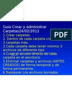 Guia Manejo de Carpetas