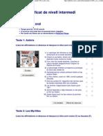 Certificats d'EOI. Francès. Certificat de nivell intermedi_ Prova de comprensió oral
