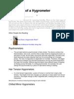 Principles of a Hygrometer