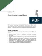 Tema 5 - Directivas Del Ensamblador