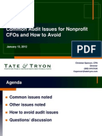 Common Audit Issues -Nonprofit CFOs