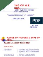 Testing of Ht Motors