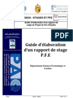 guide Projet de Fin d'étude