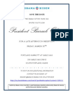 POTUS Reception Invitation