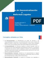 Descentralizacion y Reformas Legales