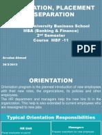 HR_ Orientation & Separation