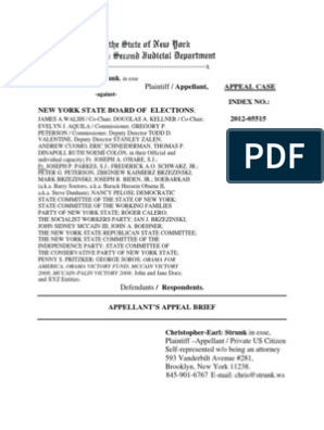 Appellant's BRIEF and APPENDIX - NYS Appellate Division 2nd