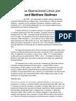 Sistema Operacional Linux Por Richard Matthew Stallman
