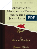 Babylonian Oil Magic in the Talmud and in the Later Jewish Litera - 978144004205