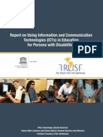 Report on Using Information and Communication Technologies (ICTs) in Education for Person with Disabilities