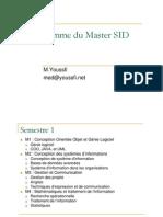 Programme Du Master SID