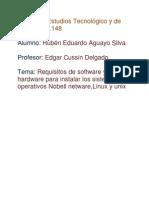 Requisitos de Software y Hardware Para Instalar Los Sistemas Operativos Nobel Netware
