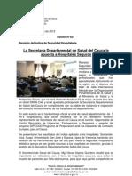 Boletín 037_La Secretaría Departamental de Salud del Cauca le apuesta a Hospitales Seguros