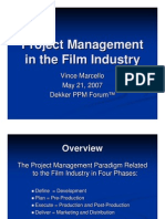 Project Management in the Film Industry