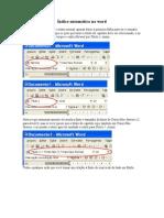 Como fazer índice automático no Word