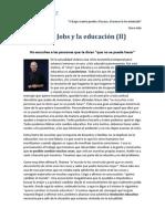Steve Jobs y la educación(II)
